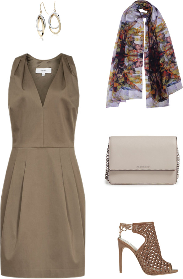 Aithne - Golden Brown Afternoon Tea Outfit Idea