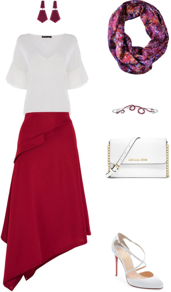 Aithne - What to Weat to Afternoon Tea at the Ritz - White and Burgundy Outfit Idea