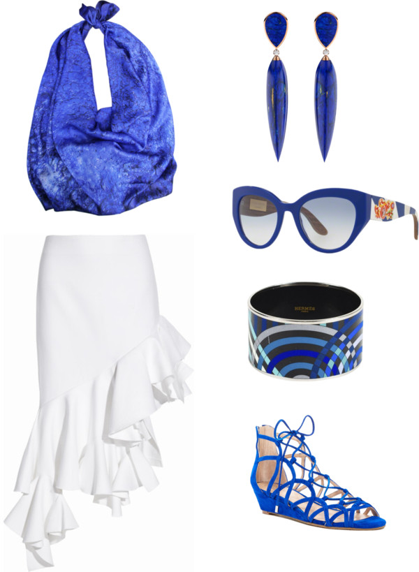 Aitne - Seaside Party outfit idea in white and Ultramarine