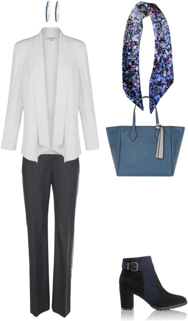 Aithne - What to wear to a business conference - Grey and Blue