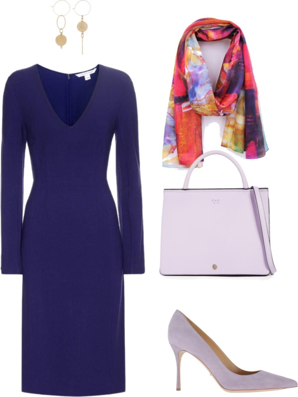 Aithne - What to wear to professional conference - Purple and Lilac