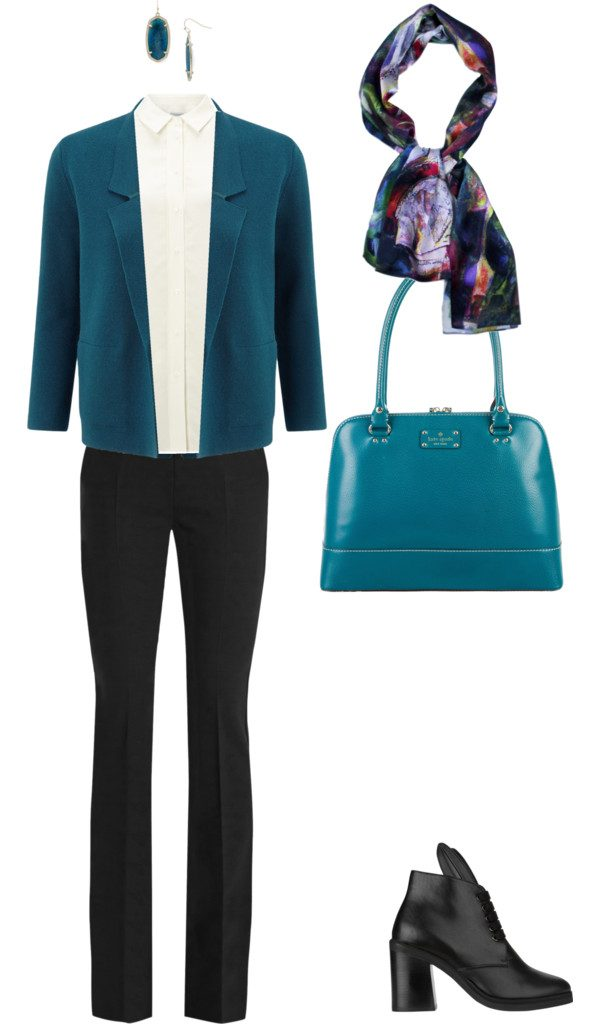 Aithne - What to wear to professional conference - Teal and Black