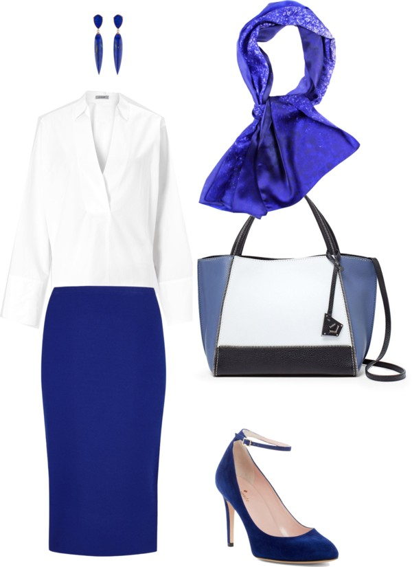 Aithne - What to wear to professional conference - White and Blue