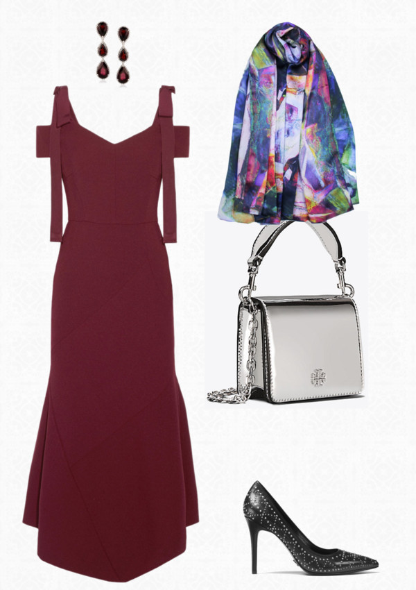 Aithne - Fiery and Elegant Christmas Party Outfit Ideas - Burgundy