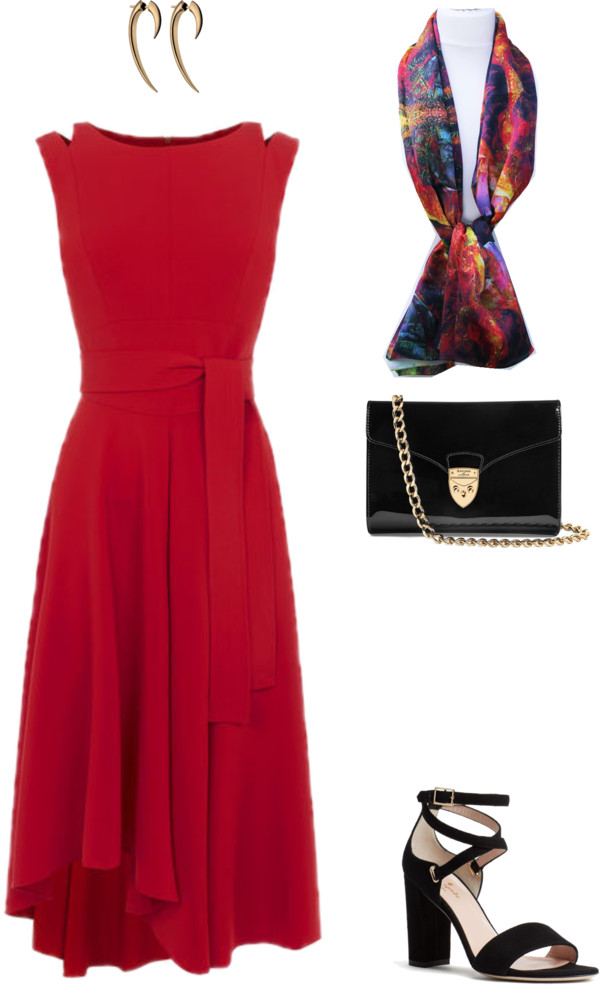aithne fiery and elegant christmas party outfit ideas fiery red