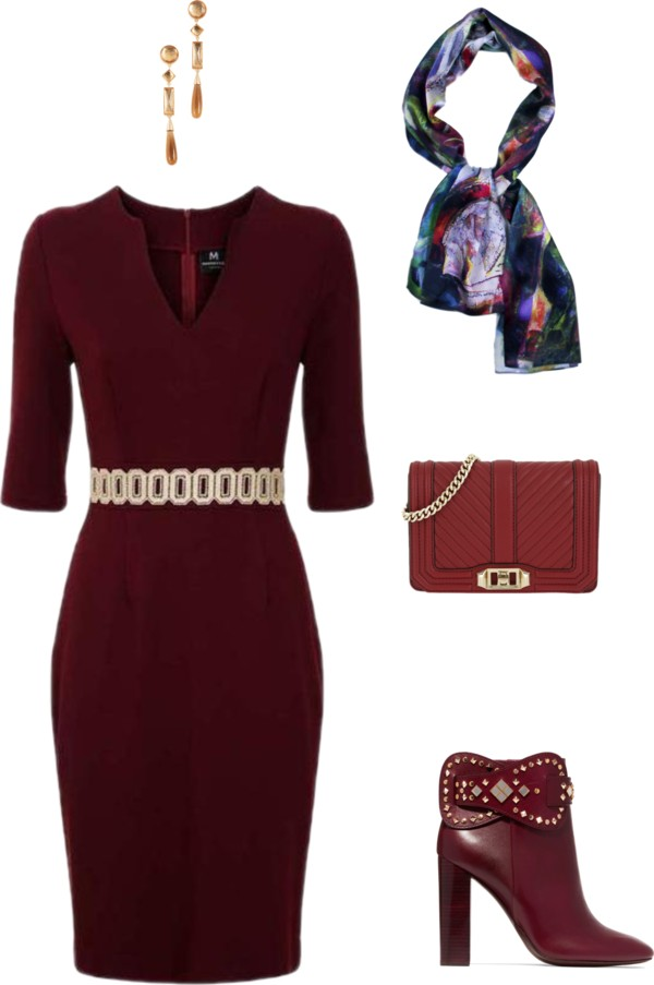 Aithne - Trendy and Traditional Christmas Party Outfit Ideas - Burgundy