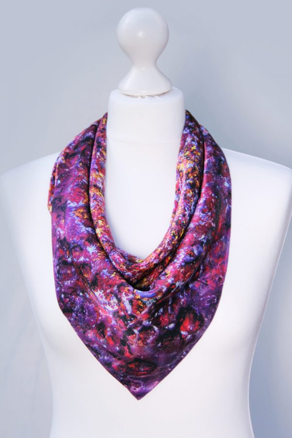 AIthne - Silk Scarf Vibrations of Carmine