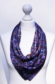 Aithne - Silk Scarf Vibrations of Blue