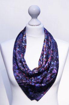 Aithne - Silk Scarf Vibrations of Blue