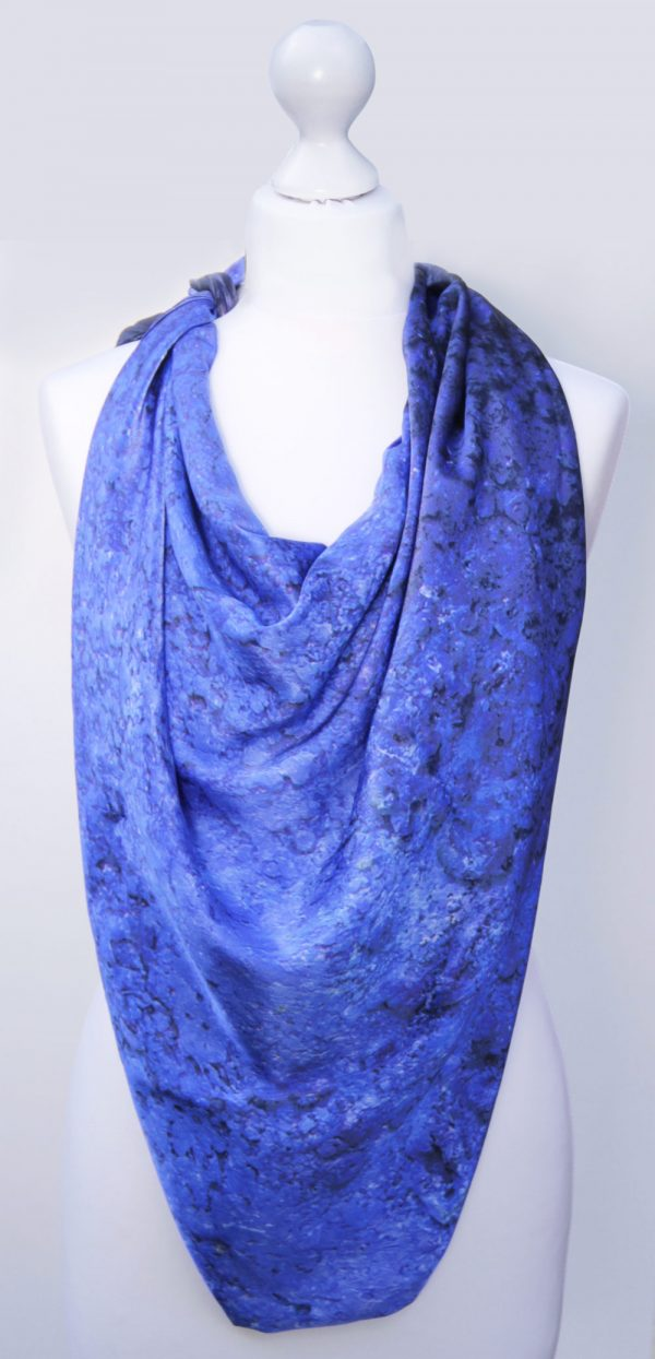 Aithne - Silk Scarf Vibrations of Ultramarine