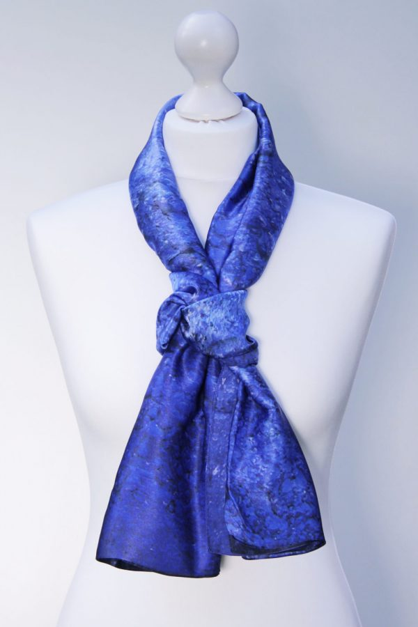 Aithne - Silk Scarf Vibrations of Ultramarine2