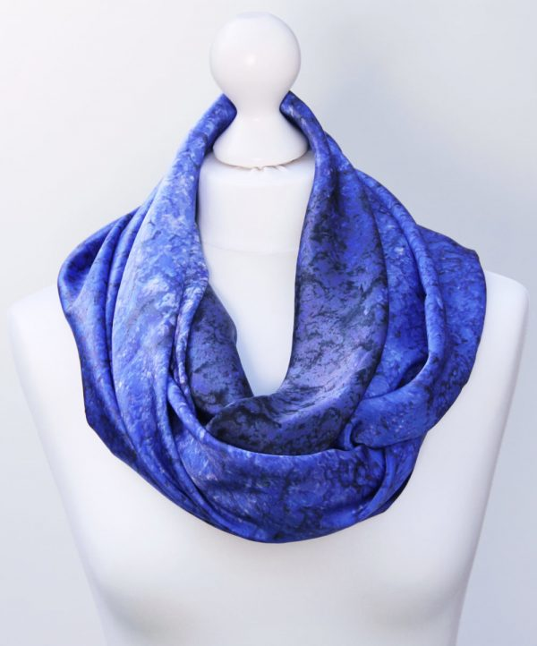 Aithne - Silk Scarf Vibrations of Ultramarine3