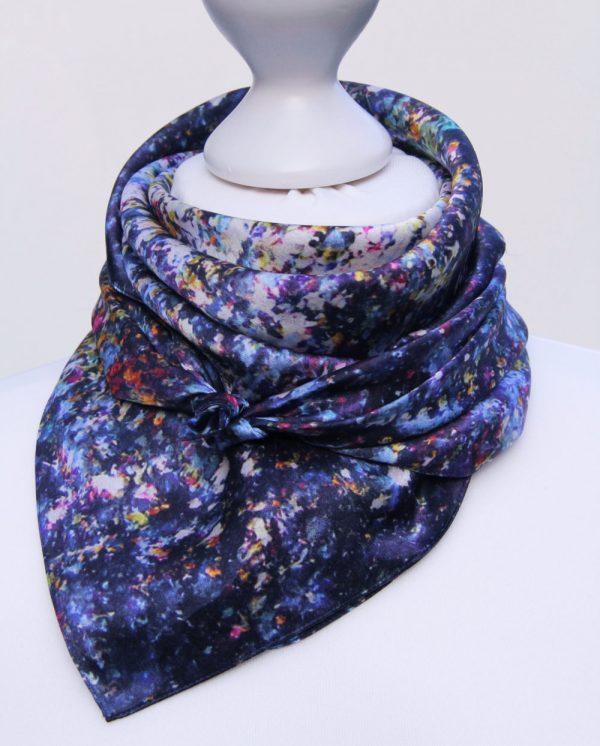 Aithne - Square Silk Scarf - Stardust11