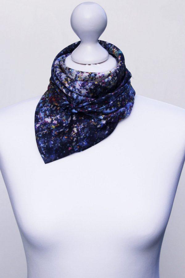 Aithne - Square Silk Scarf - Stardust12