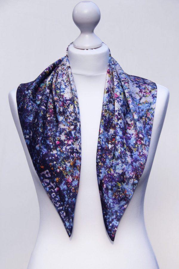 Aithne - Square Silk Scarf - Stardust13