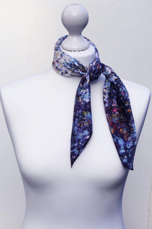 Aithne - Square Silk Scarf - Stardust14