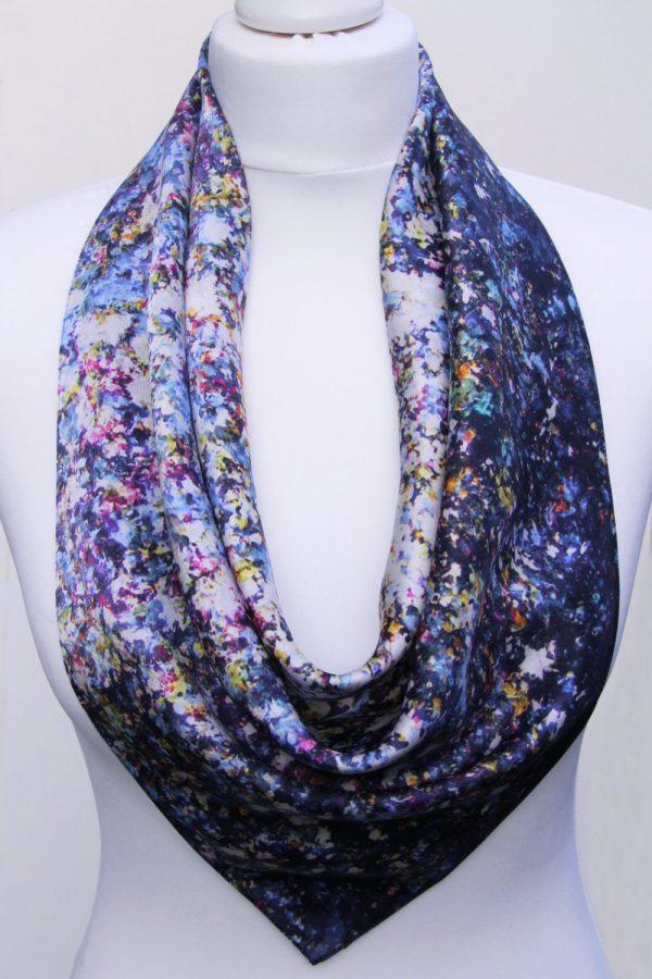 Aithne - Square Silk Scarf - Stardust9