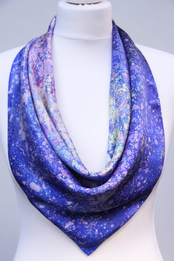 Aithne - Square Silk Scarf - The Dancing Stars