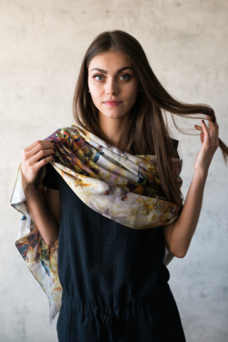 Art on Scarf - Lookbook - Musical Composition