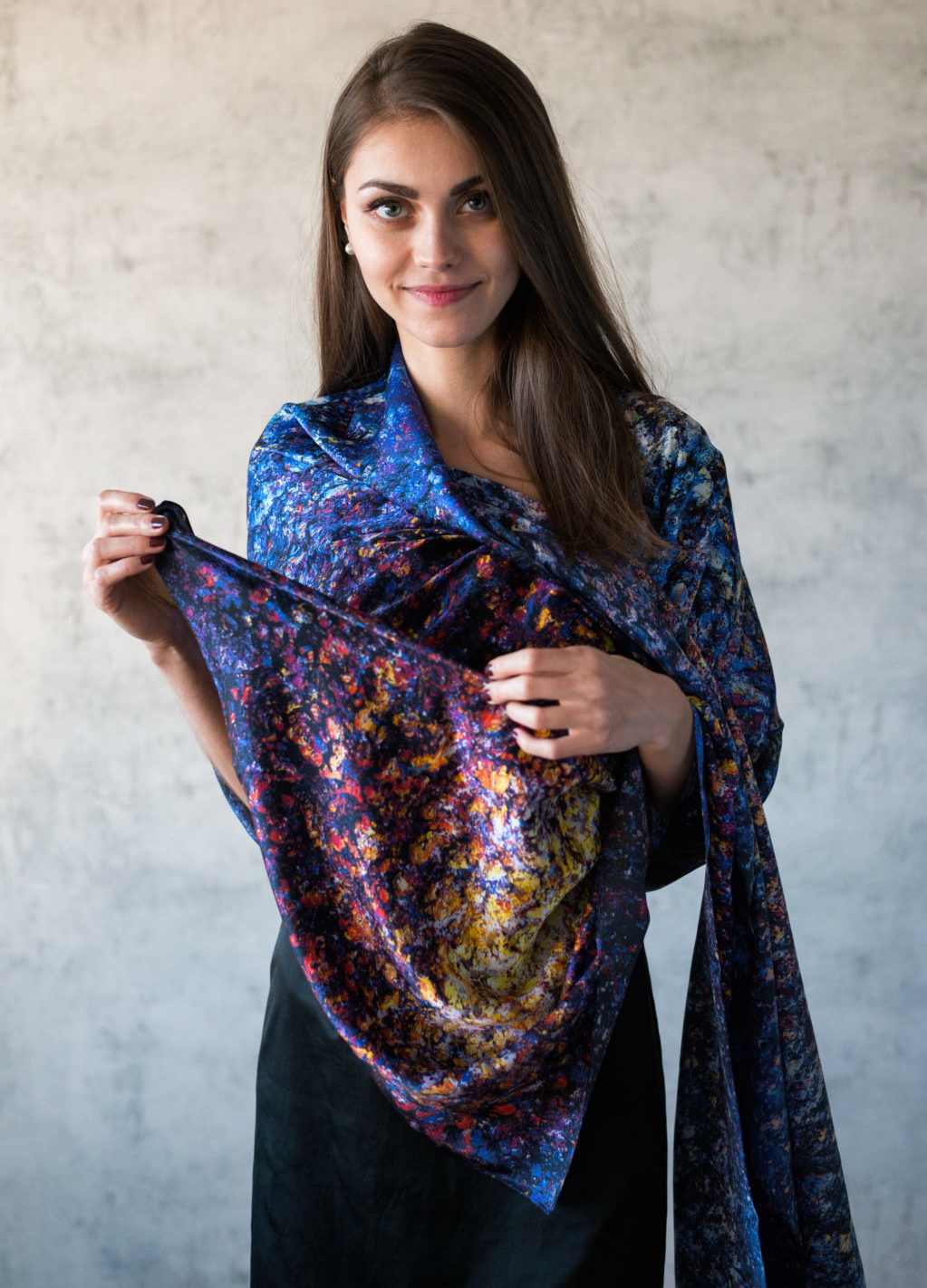 Art on Scarf - Look Book - The Cosmic Spectrum
