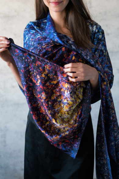 Art on Scarf - Silk Scarf - The Cosmic Spectrum
