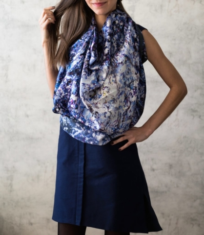 Art on Scarf - Lookbook - The Sound of Infinity