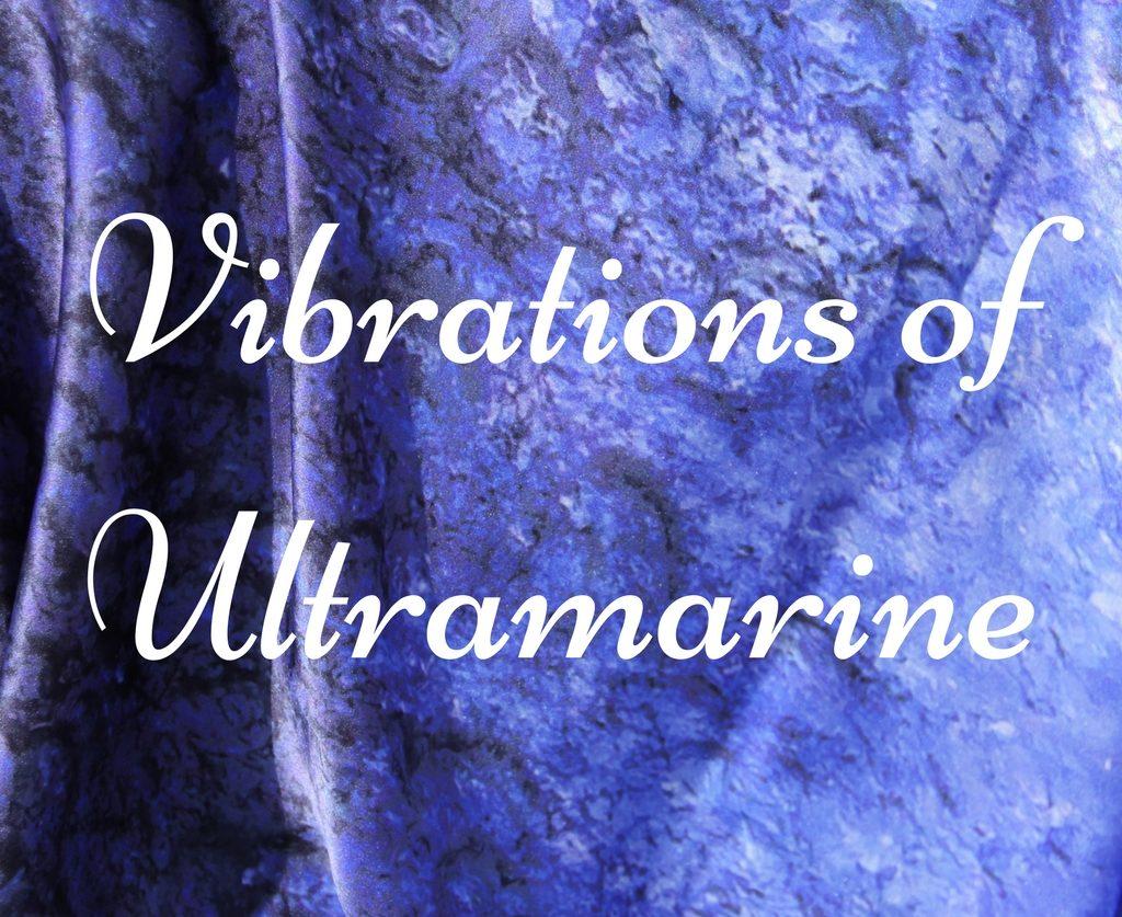 Art on Scarf -Lookbook - Vibrations of Ultramarine