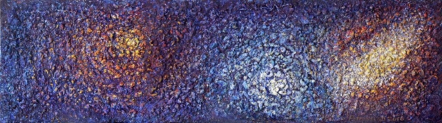 Art on Scarf - Cosmic Spectrum - Triptic1