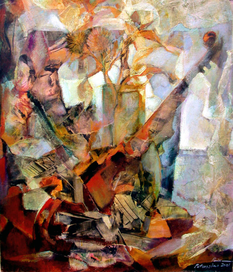 Art on Scarf - Musical Composition,