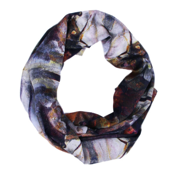 Aithne - Art on Scarf - Behind the Mask