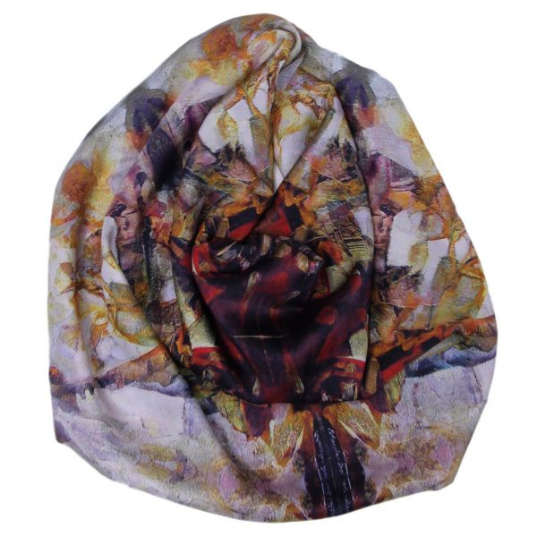 Aithne - Art on Scarf - Musical Composition1