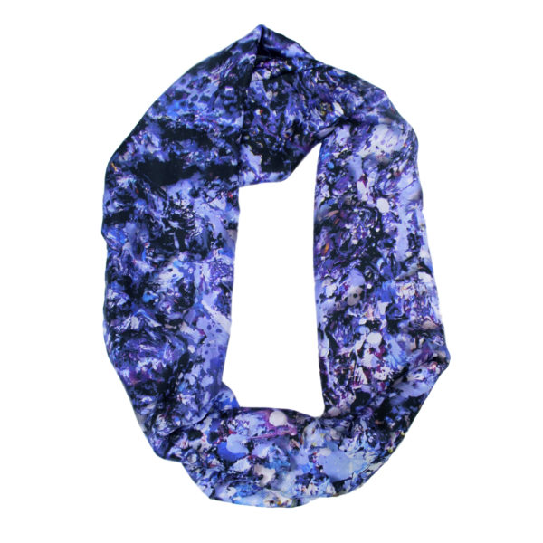 Aithne - Art on Scarf - Silk Scarf Sound of Infinity1
