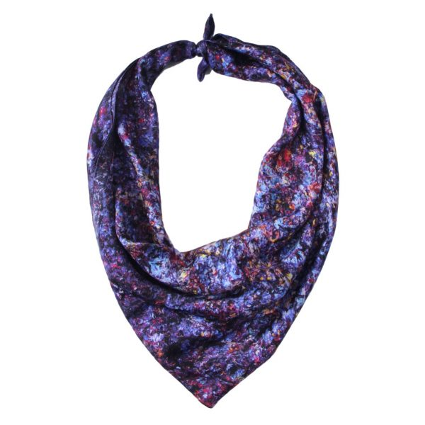 Aithne - Art on Scarf - Vibrations of Blue