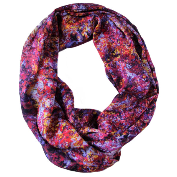 Aithne - Art on Scarf - Vibrations of Carmine