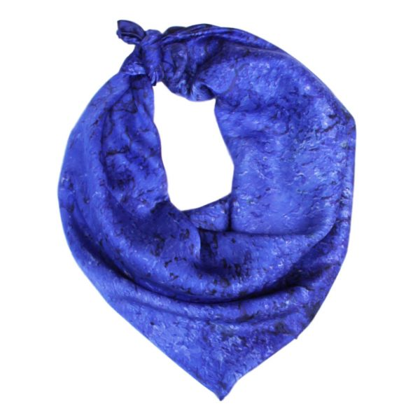 Aithne - Art on Scarf - Vibrations of Ultramarine