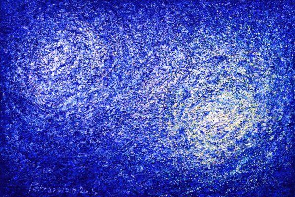 Aithne - Art on Scarf - Constellations by Ararat Petrossian