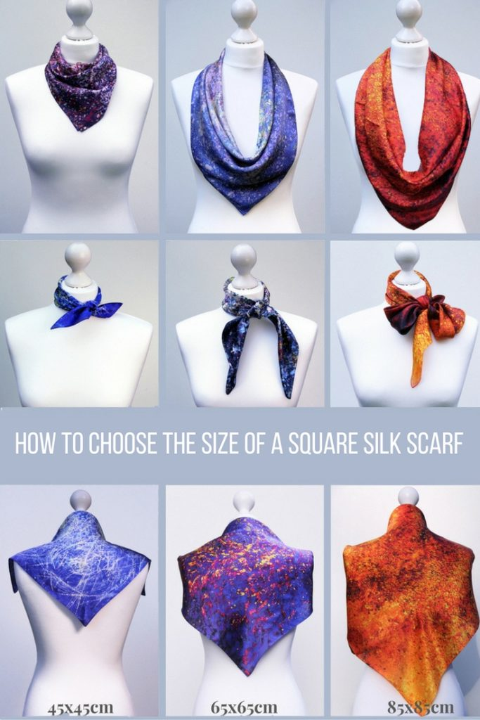 Aithne - How to Choose the Size of a Square Silk Scarf