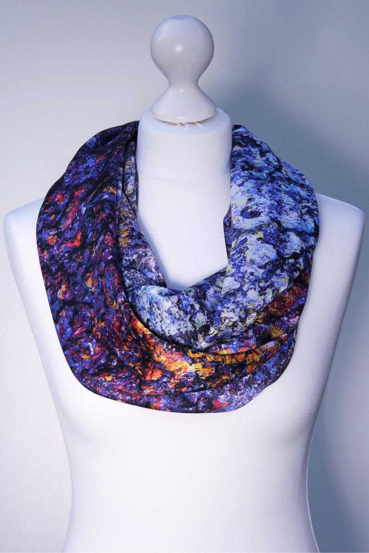 75c2e9b9 Silk Scarf - The Cosmic Spectrum - Aithne - Art on Scarf