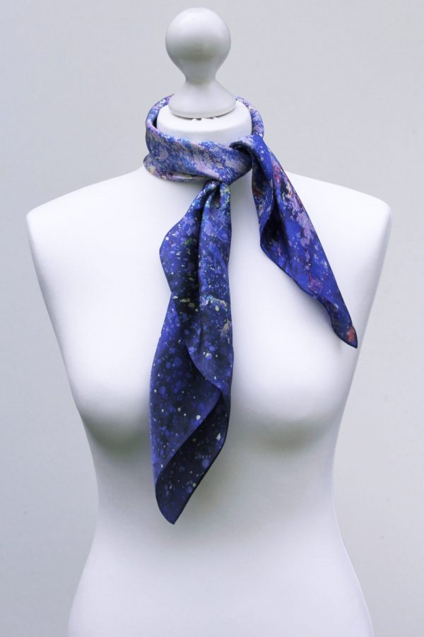 Aithne - Square Silk Scarf - The Dancing Stars3