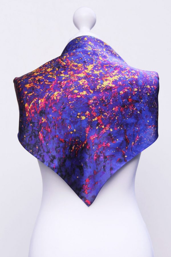 Aithne - Square Silk Scarf - The Flames in Darkness4