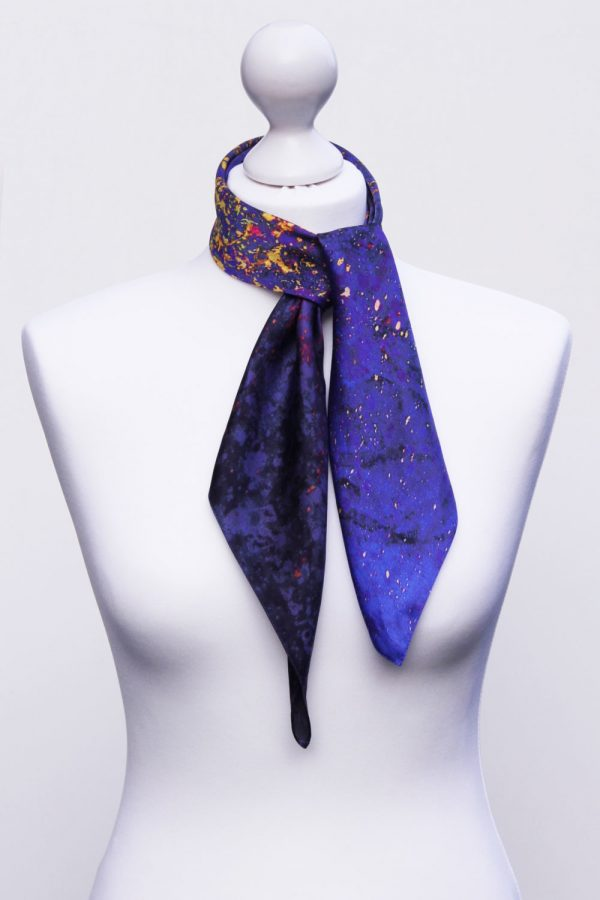 Aithne - Square Silk Scarf - The Flames in Darkness5
