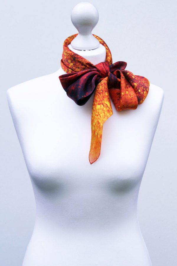 Aithne - Square Silk Scarf - The Spiral to Infinity1