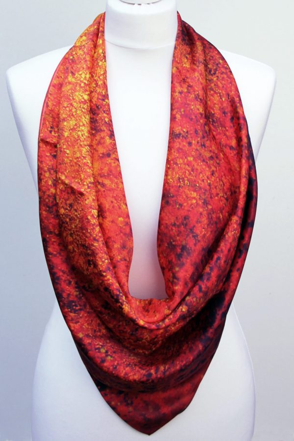 Aithne - Square Silk Scarf - The Spiral to Infinity2