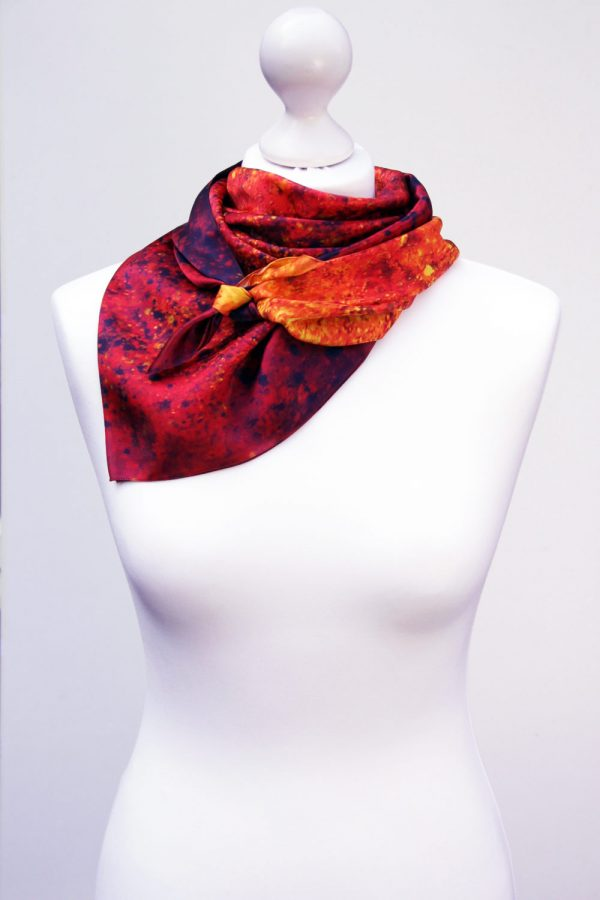 Aithne - Square Silk Scarf - The Spiral to Infinity3