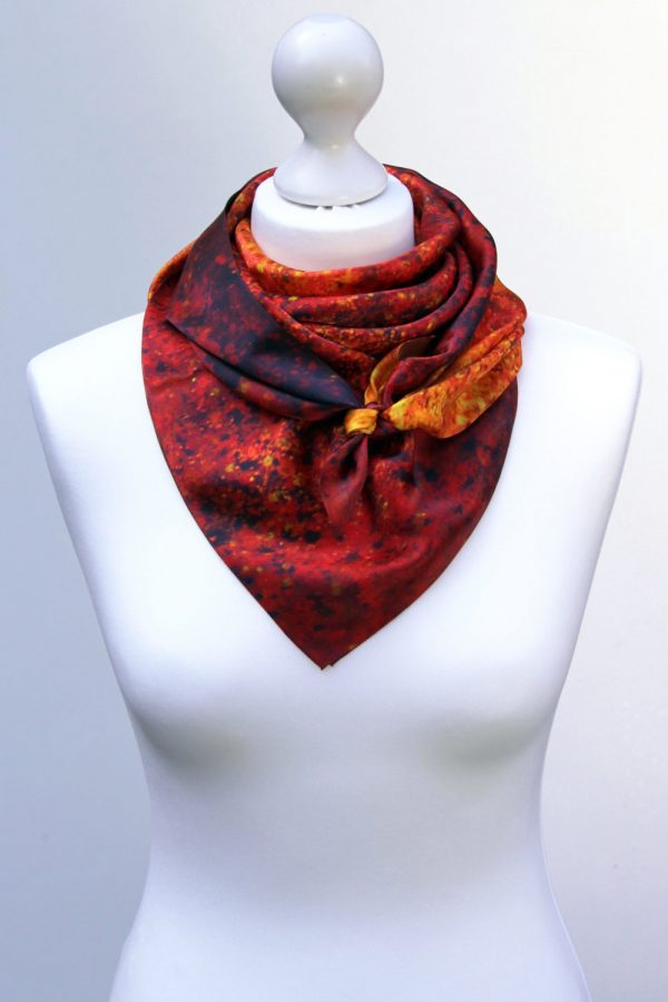 Aithne - Square Silk Scarf - The Spiral to Infinity4