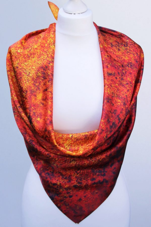 Aithne - Square Silk Scarf - The Spiral to Infinity5