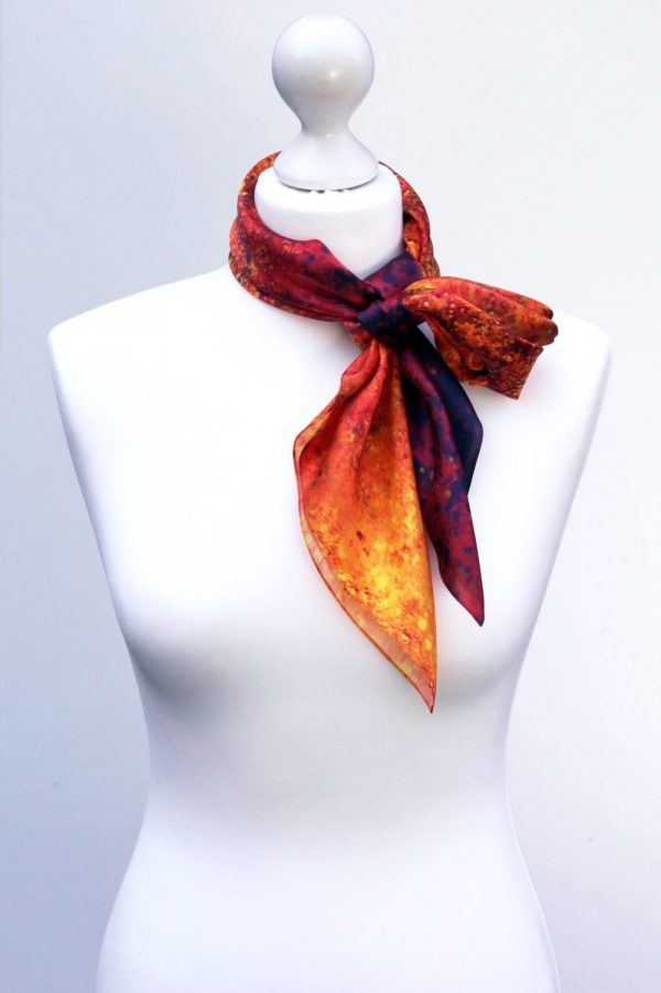 Aithne - Square Silk Scarf - The Spiral to Infinity7