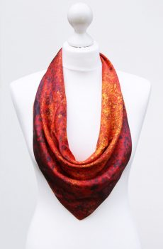 Aithne - Square Silk Scarf - The Spiral to Infinity8
