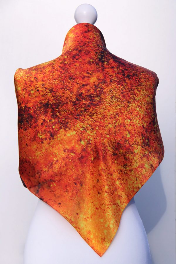 Aithne - Square Silk Scarf - The Spiral to Infinity9