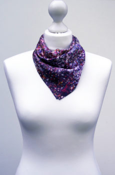 Aithne - Square Silk Scarf - The Warm Waves of Space2